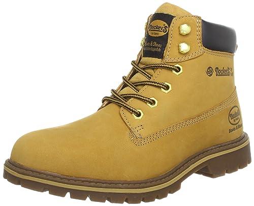 Dockers 330503-003093 - Botines desert de cuero hombre, color beige, talla 47: Amazon.es: Zapatos y complementos