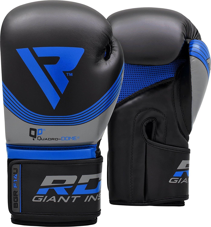RDX Guantoni Boxe Nemesis Muay Thai Guanti da Sacco Allenamento Sparring Kickboxing Pelle Maya Hide Boxing Gloves Pugilato Rosso Blu 10oz 12oz 14oz 16oz