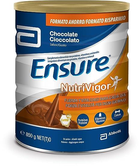 Ensure Nutrivigor sabor chocolate 850g – complemento alimenticio con proteínas, vitaminas, minerales y CaHMB