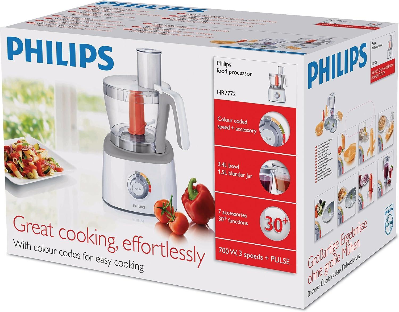 Philips HR7772/00 Procesador de carne con licuadora and 6 ...