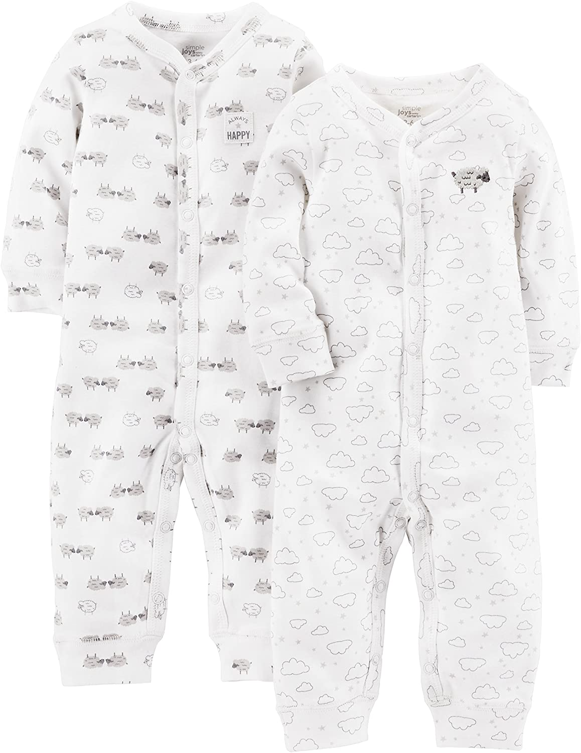 Simple Joys by Carter's Baby 2-Pack Cotton Footless Sleep and Play