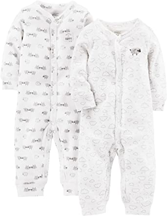 Simple Joys by Carters 2-Pack Fleece Footed Sleep and Play Beb/é-Ni/ños Pack de 2