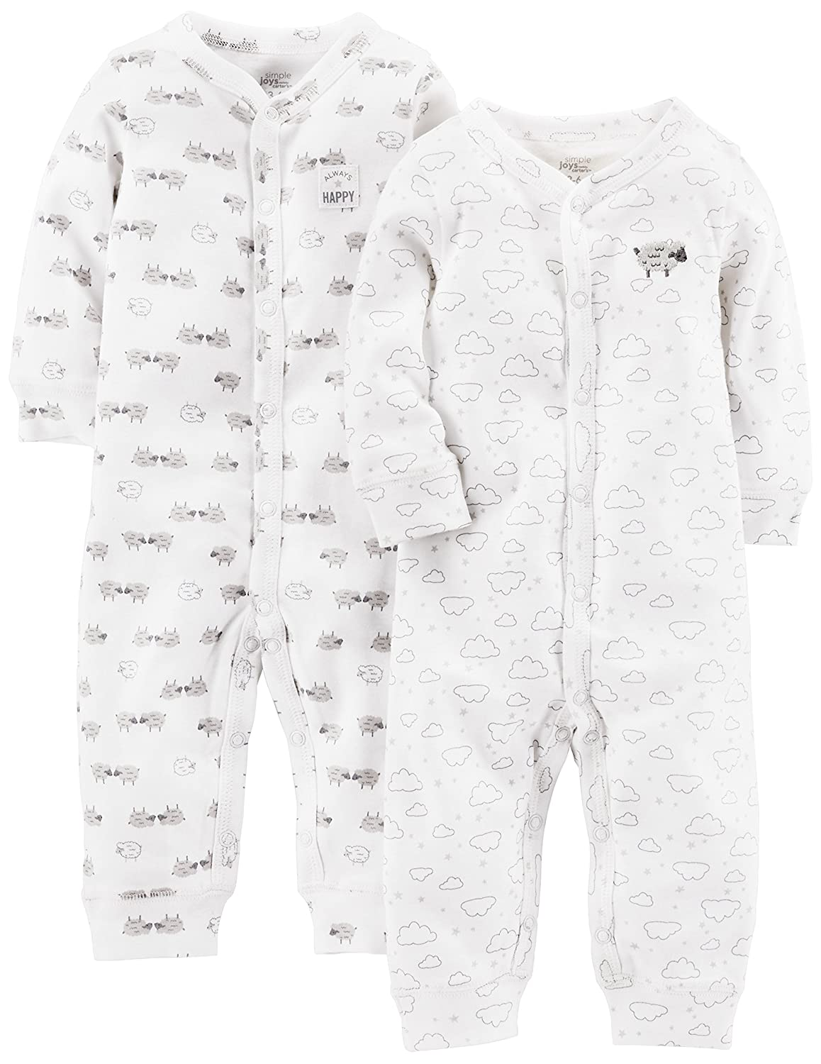 Simple Joys by Carter's Baby 2-Pack Cotton Footless Sleep and Play A20G034