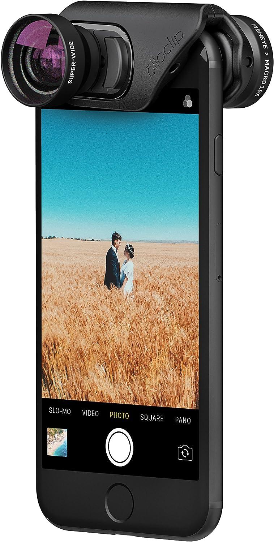 Amazon Com Olloclip Core Lens Set For Iphone 8 8 Plus Iphone 7 7 Plus Fisheye Super Wide And Macro 15x Premium Glass Lenses Electronics