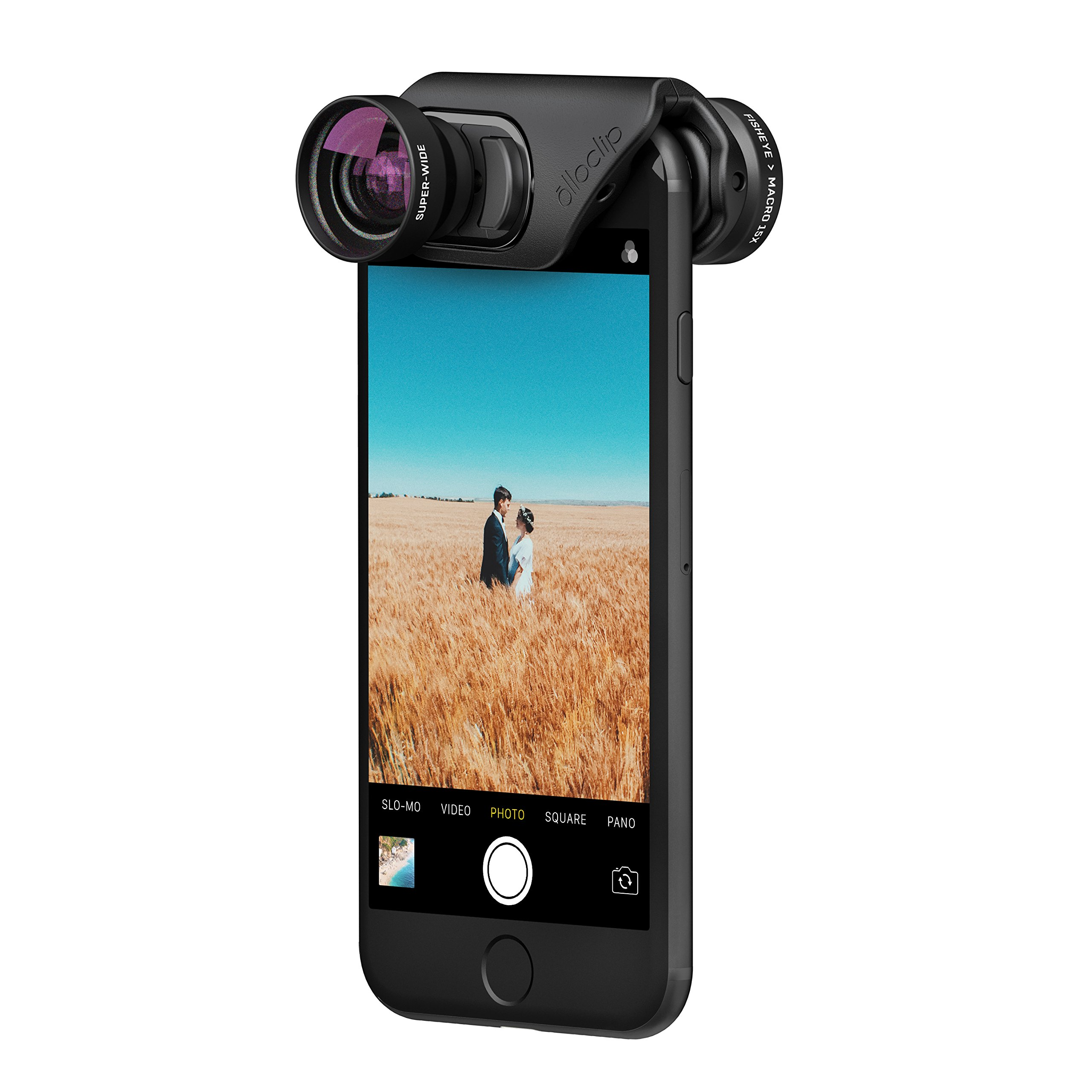 olloclip CORE LENS SET - Compatible with iPhone 8/8 Plus & iPhone 7/7 Plus — FISHEYE, SUPER-WIDE and MACRO 15x Premium Clip On Cell Phone Camera Lens Attachment
