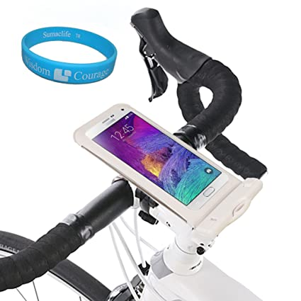 info for c4619 fd466 SumacLife Cycling Water Resistant Smartphone Bike Mount Large Size -  Bicycle Waterproof Phone Case Holder for Samsung Galaxy Mega 2/Note 4/Note  ...
