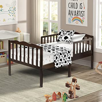 Amazon Com Harper Bright Designs Classic Solid Wood Toddler Bed