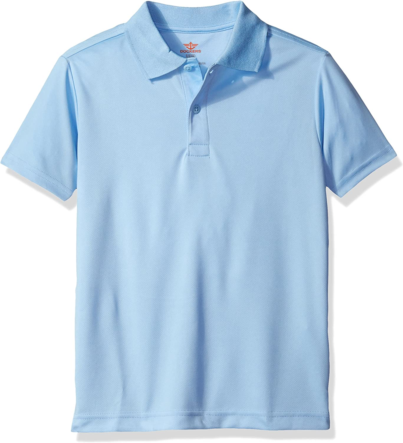 Dockers Big Boys Uniform Short Sleeve Performance Polo, Light ...