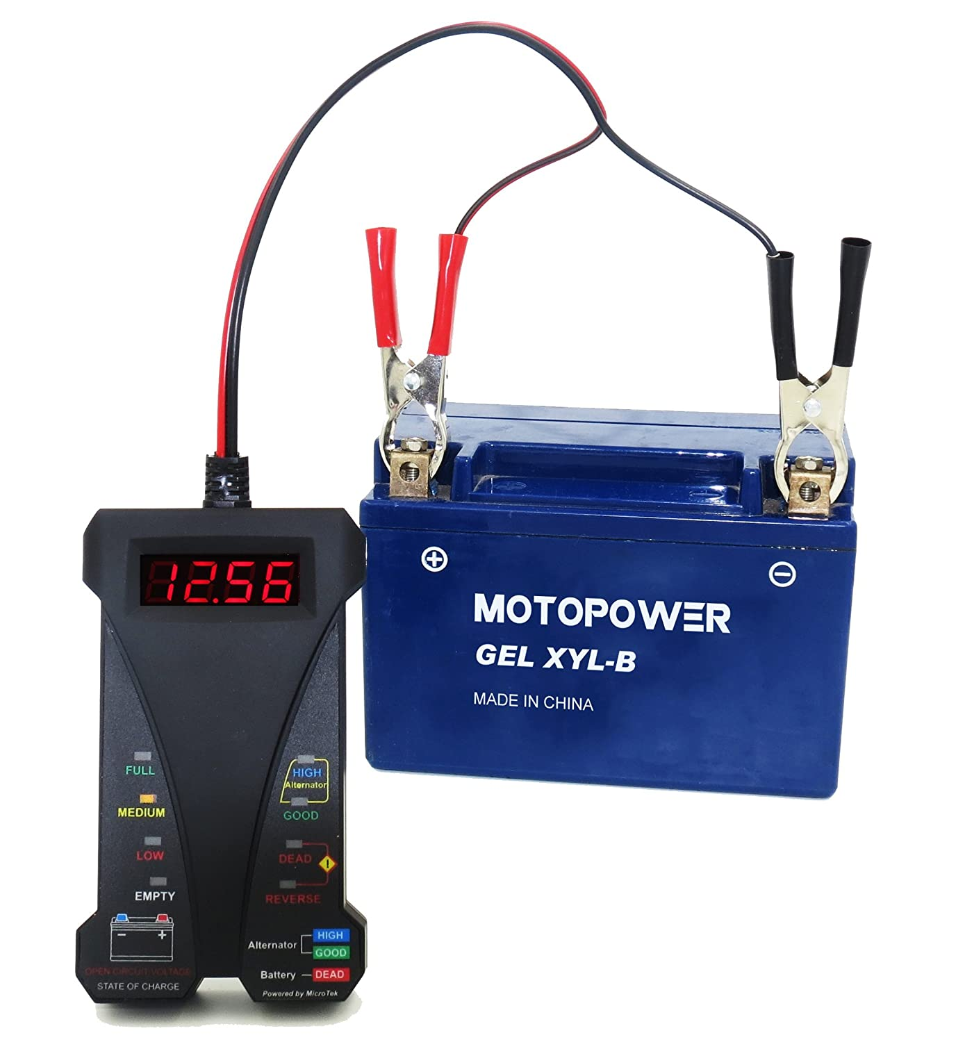 Motopower Mp0514a 12v Digital Battery Tester Voltmeter Circuit Manufacturers In And Charging System Analyzer With Lcd Display Led Indication Black Rubber Paint