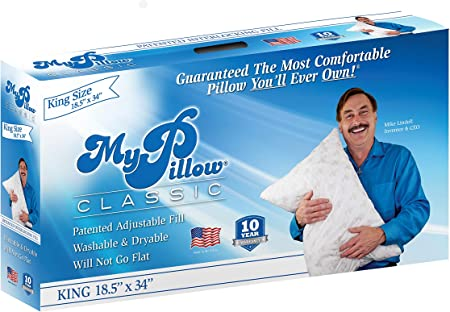 MY PILLOW KING PREMIUM WHITE FILL BED PILLOW   NEW