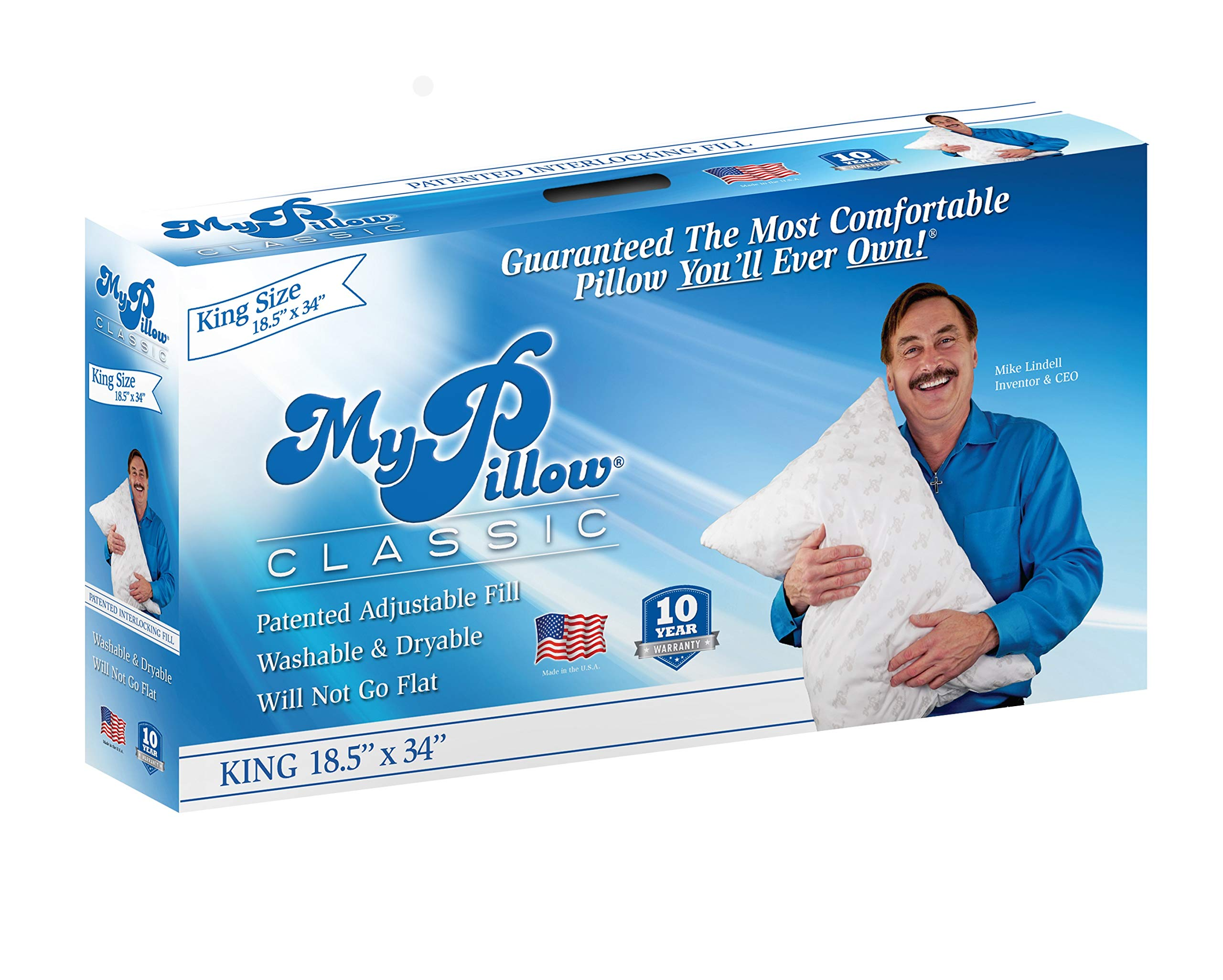 MyPillow Classic Series [King, Medium Fill] Now Available in 4 Loft Levels