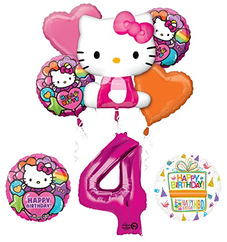 Amazon Hello Kitty 4th Birthday Party Supplies And Balloon