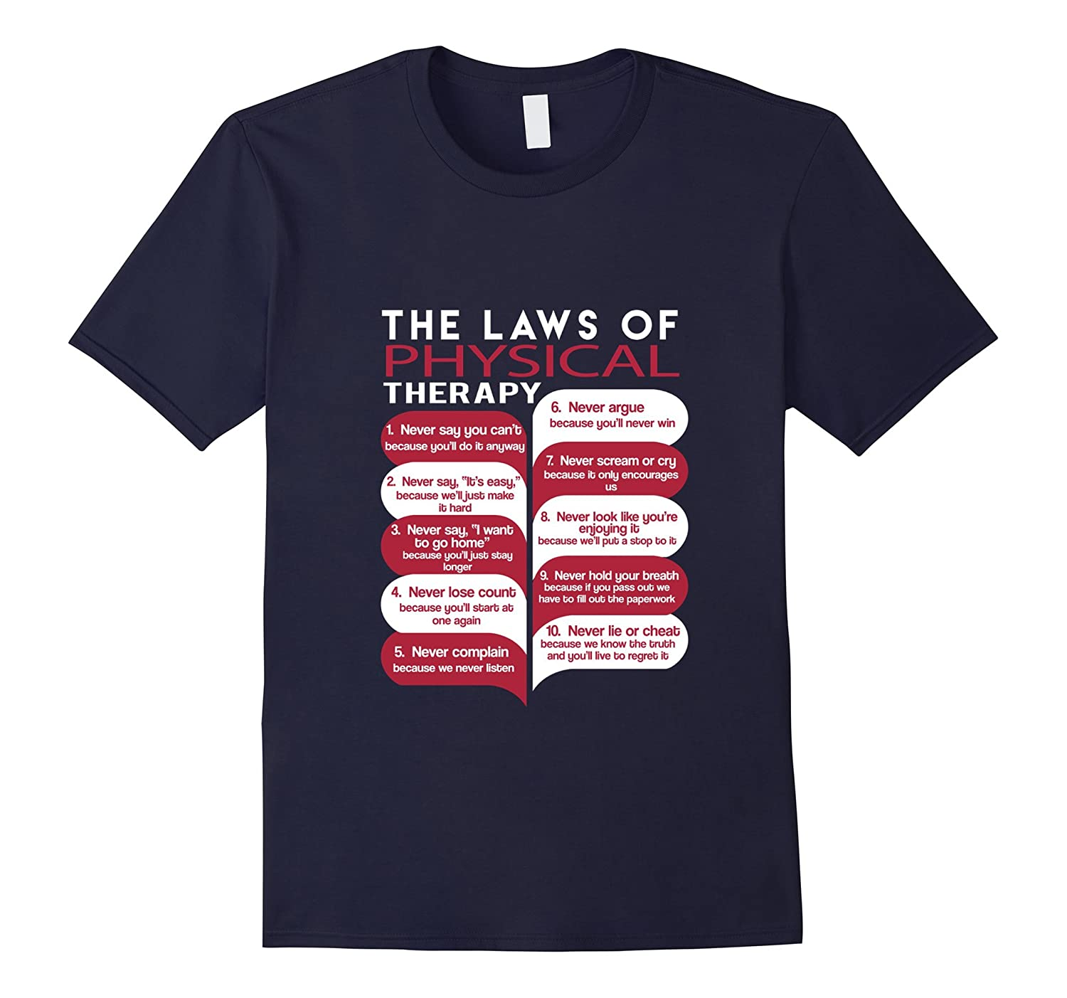 The Laws Of Physical Therapy T-Shirt-TD