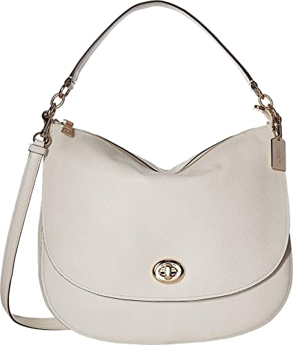 Image Unavailable. Image not available for. Color  COACH Women s Pebbled  Turnlock Hobo Chalk One Size 8b230226d5