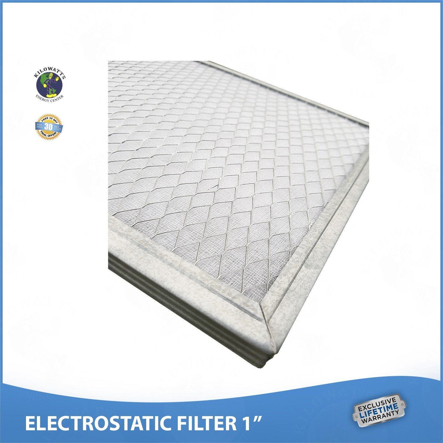20x25x1 Lifetime Air Filter - Electrostatic Washable Permanent A/C Furnace Air Filter. by Kilowatts Energy Center (Image #4)