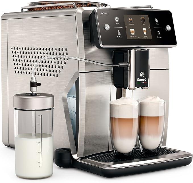 Saeco Xelsis sm7685/00 – Cafetera automática (pantalla táctil de Innovador, acero inoxidable) Plata/Negro: Amazon.es: Hogar