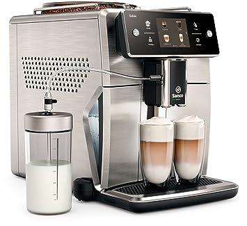 Saeco Xelsis sm7685/00 - Cafetera automática (pantalla táctil de Innovador, acero inoxidable) Plata/Negro: Amazon.es: Hogar