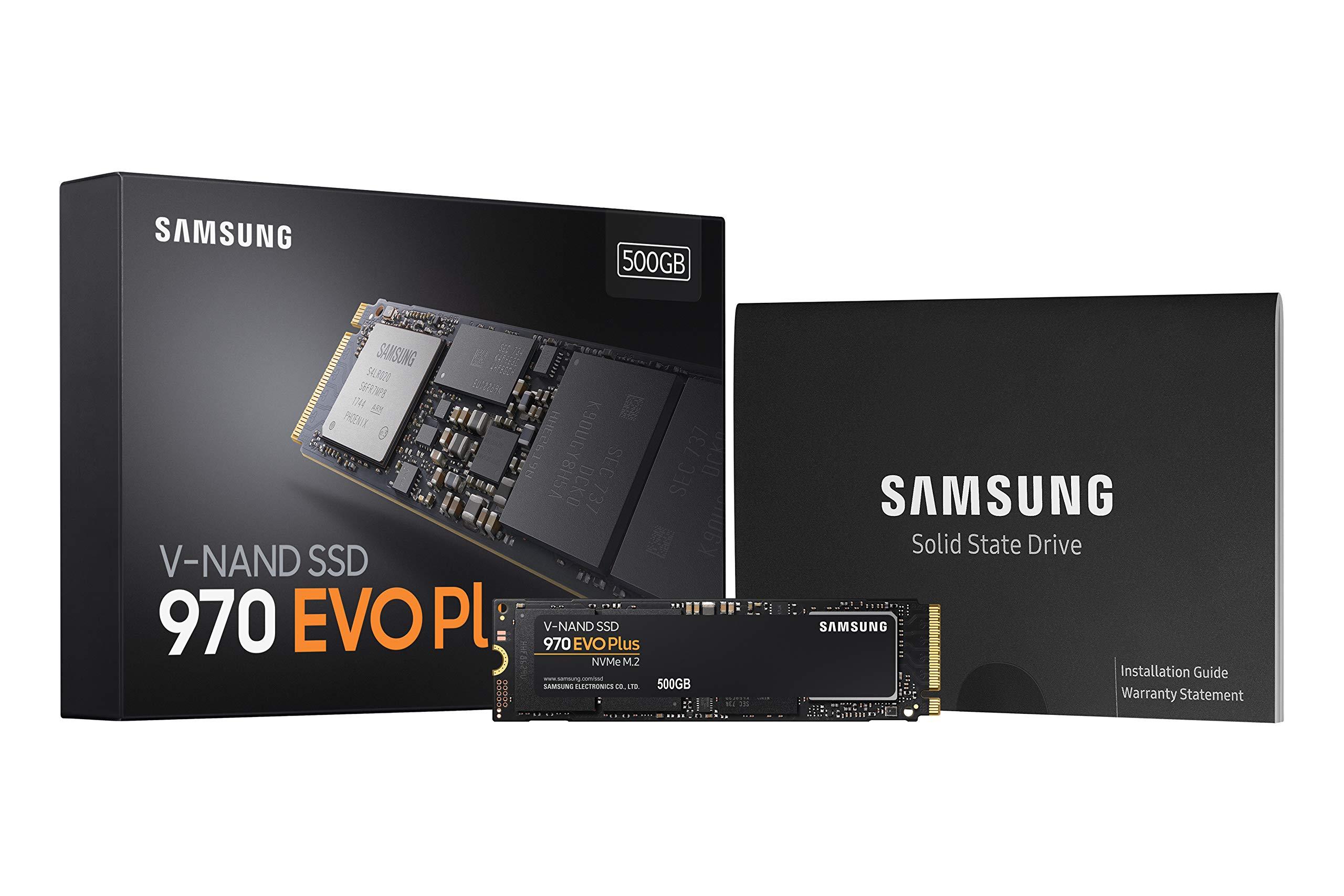 Samsung 970 EVO Plus Series - 500GB PCIe NVMe - M.2 Internal SSD (MZ-V7S500B/AM) by Samsung (Image #2)
