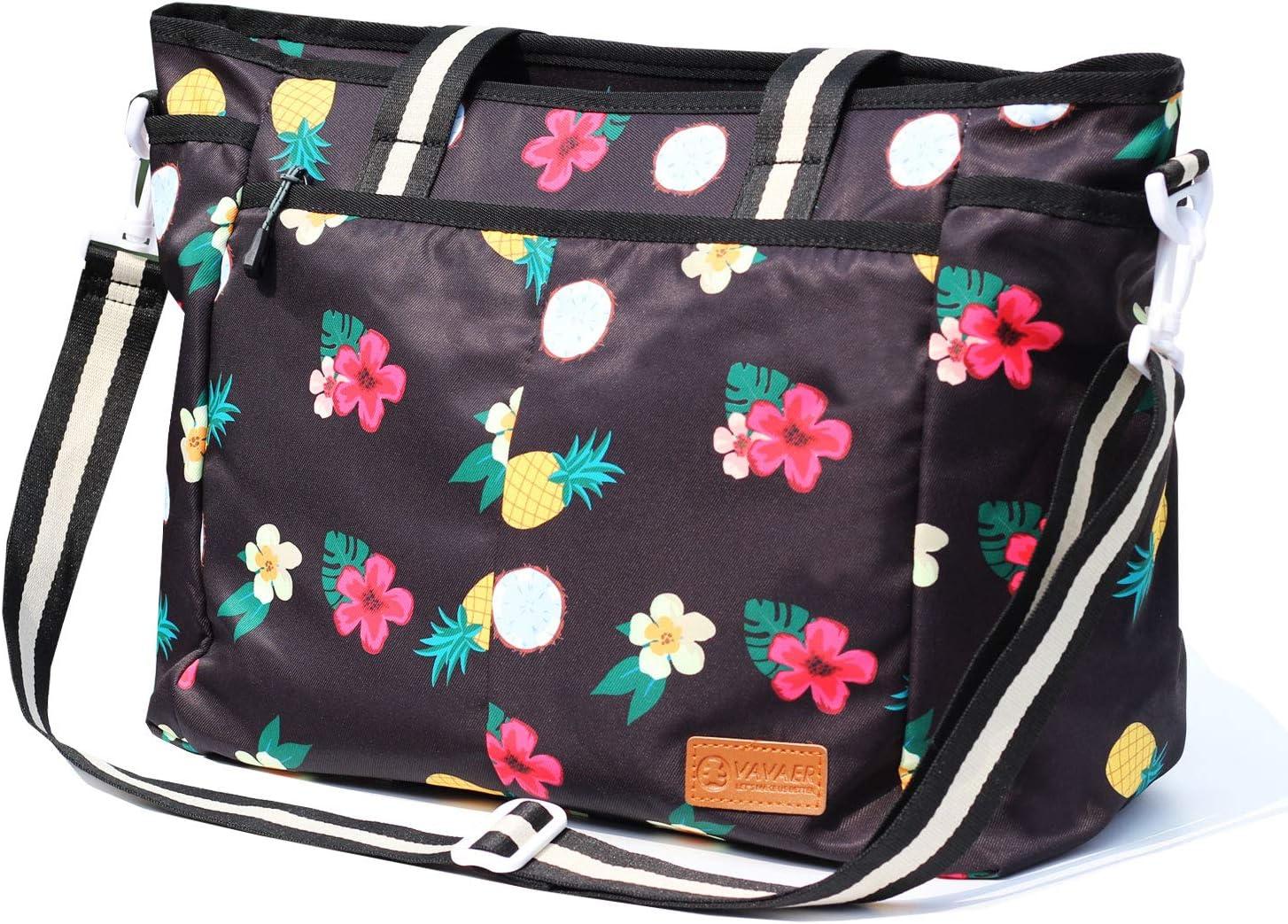 VAVAER Women Ladies Weekender Bag Lightweight Gym Tote Overnight Carry-on Tote Waterproof Duffel in Trolley Handle