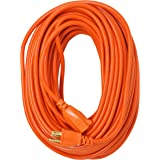 Southwire 2309SW8803 16/3 Vinyl Outdoor Extension Cord, Weather Resistant Flexible Vinyl Jacket, 3- Pronged, 100-Foot Extensi