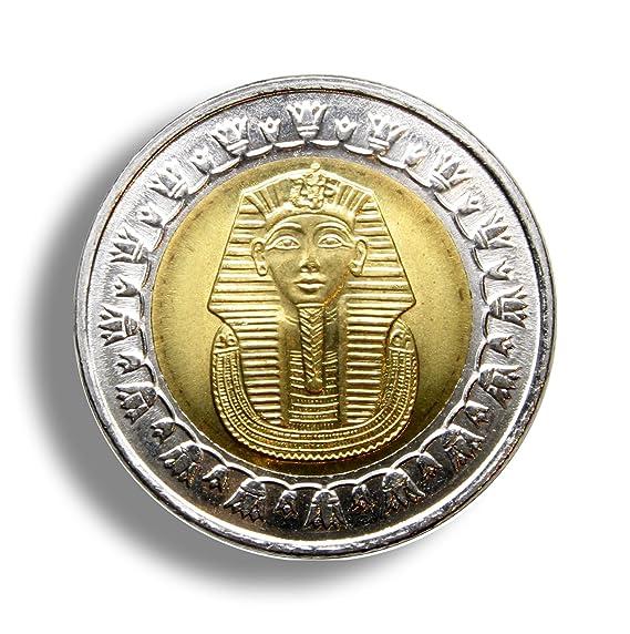 Amazon One Egyptian Pound Bi Metallic Coin Pharaoh Tutankhamun