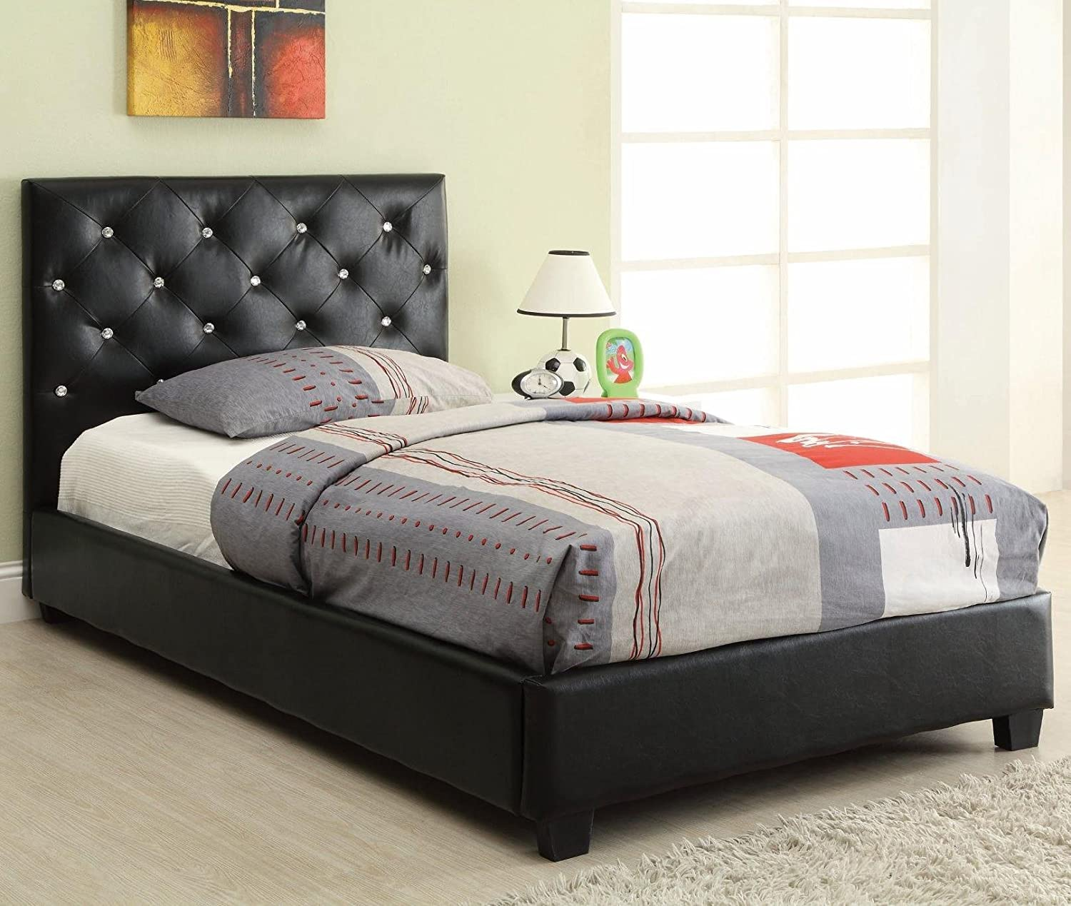 amazoncom  coaster furniture t regina upholstered twin bed  - amazoncom  coaster furniture t regina upholstered twin bed withbutton tufting  headboards