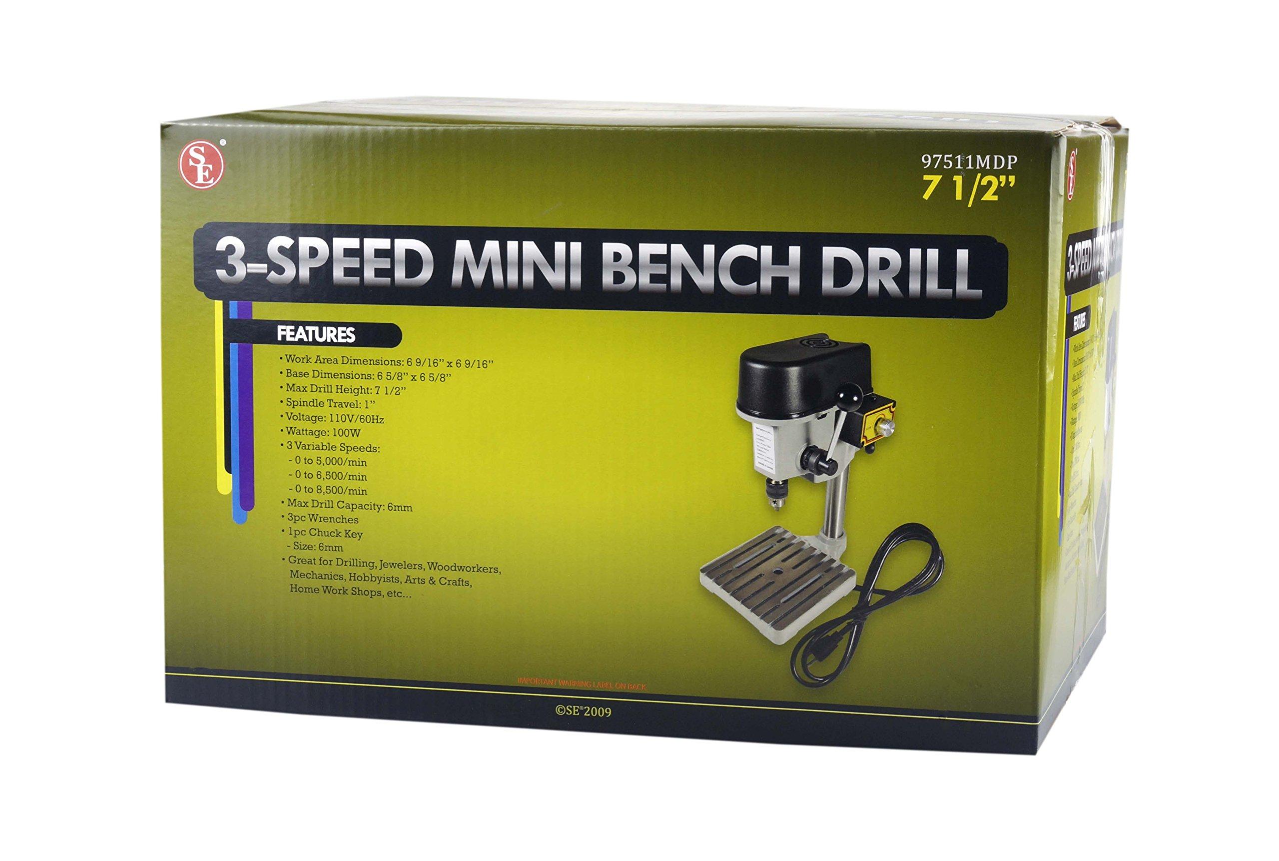 SE 3-Speed Mini Drill Press Bench by SE (Image #2)