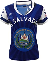 6b81d637a El Salvador and USA Jersey Arza Design for Women V Neck 100% Polyester New