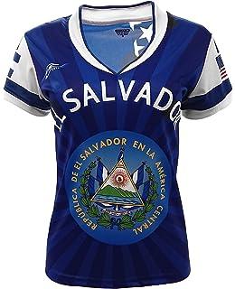 acf10e5ac El Salvador and USA Jersey Arza Design for Women V Neck 100% Polyester New