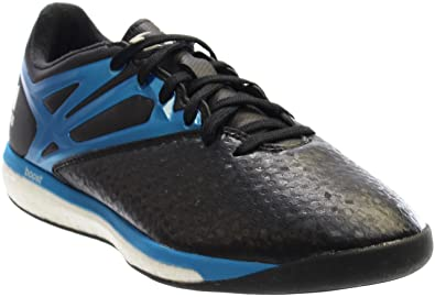 143a3715c adidas Messi 15.1 Boost B24586 Black Blue Zero Metallic Men s Indoor Soccer  Shoes (