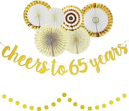 Amazon.com: Decoración para fiesta de 65 cumpleaños ...