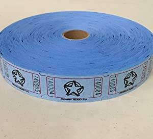 2000 Blue Star Single Roll Consecutively Numbered Raffle Tickets