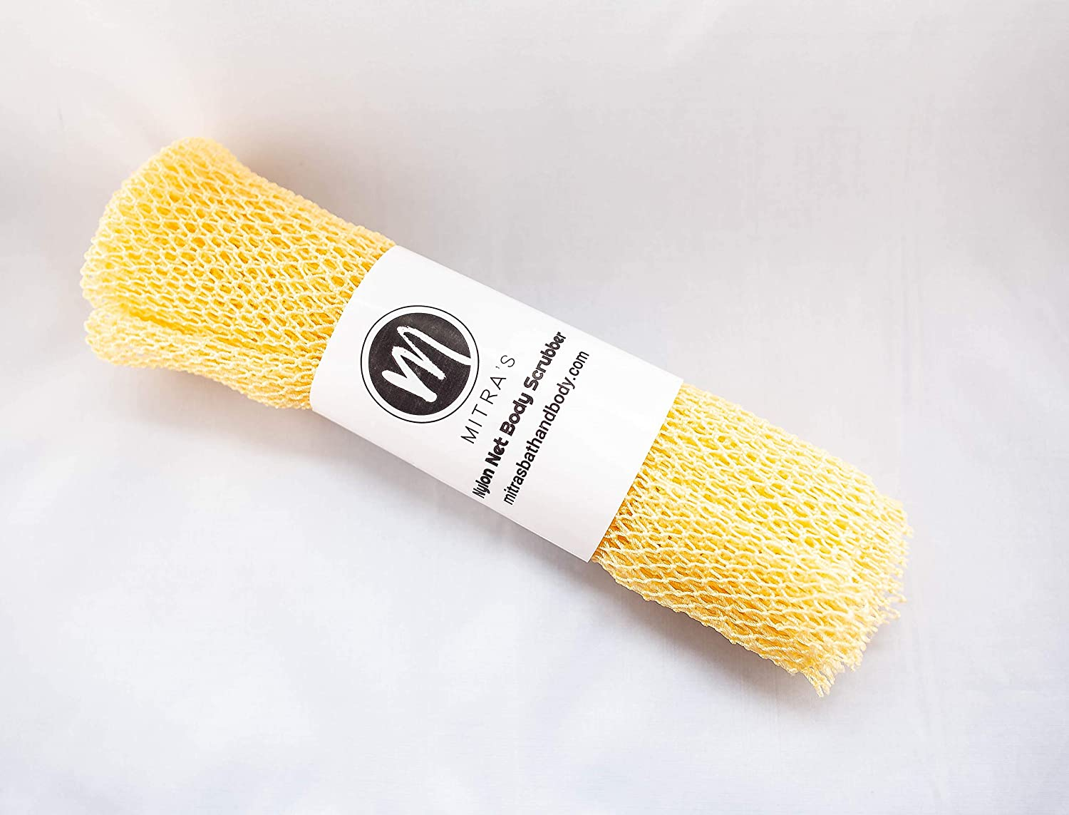 African Net Exfoliating Shower Body Scrubber/Exfoliating Back Scrubber/Skin Smoother/Great for Daily Use - Yellow