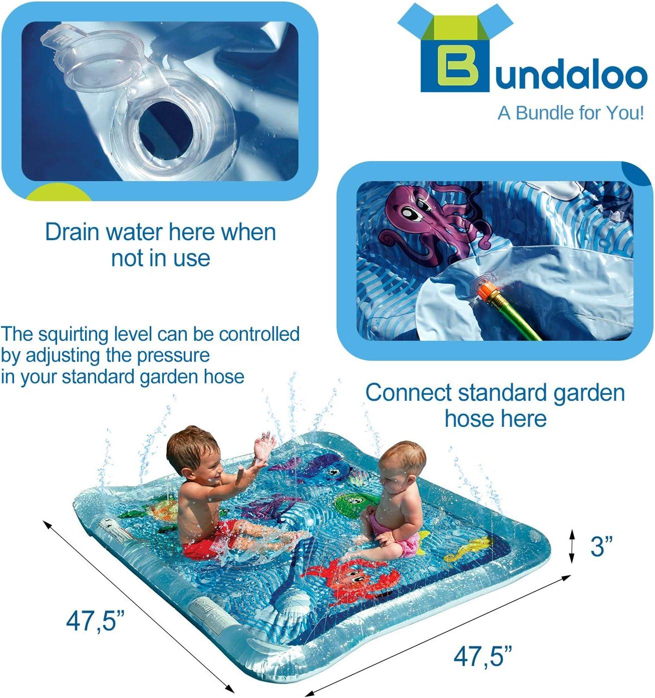 Amazon.com: Bundaloo - Piscina inflable para bebé, para uso ...