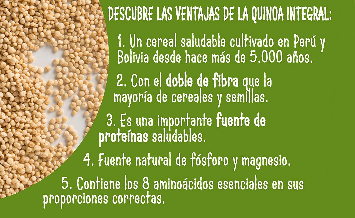 Brillante Quinoa Integral 125G X 2 - [Pack De 8] - Total 2 Kg: Amazon.es: Alimentación y bebidas