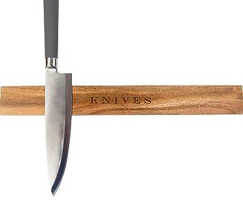 Montado en la pared - Soporte magnético para cuchillos, tira ...