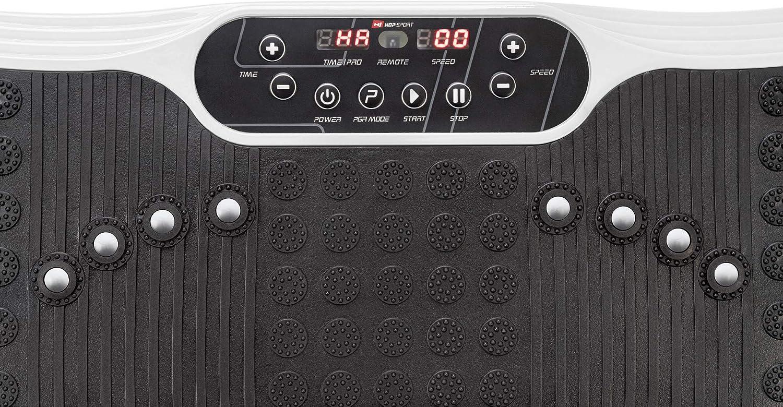 Hop-Sport Vibrationsplatte HS-040VS Cube mit Trainingsb/ändern Fernbedienung 99 Intensit/ätsstufen 3 Trainingszonen 11 Trainingsprogramme Expander