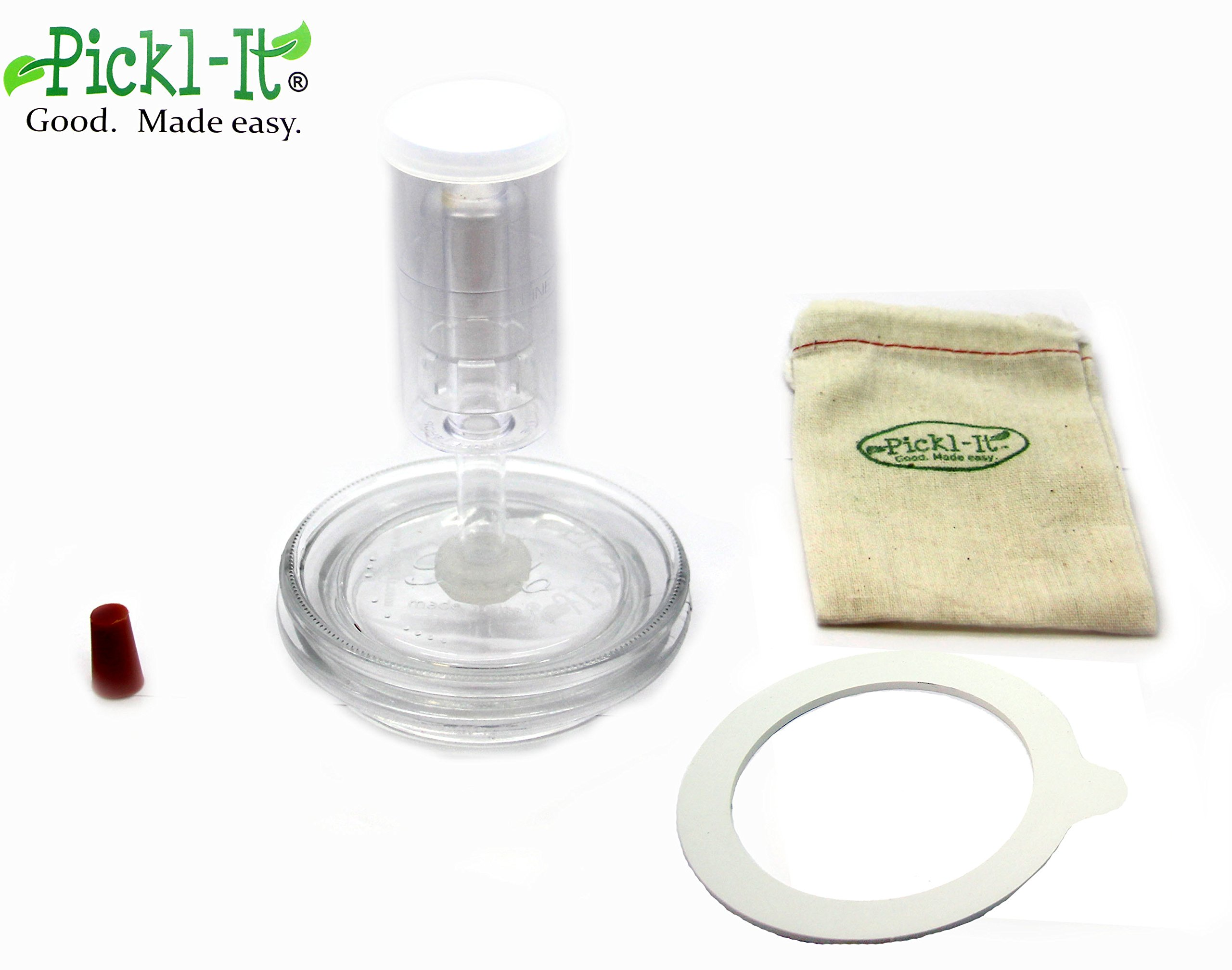 Pickl-It Original Fermentation Lid Kit Convert 'Fido' Jars For Anaerobic Pickling