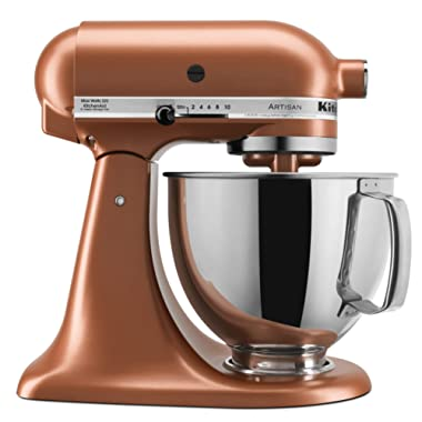 KitchenAid KSM150PSCE Artisan Stand Mixers, 5 quart, Copper Pearl
