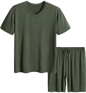 Latuza Mens Short Sleeves and Shorts Pajama Set