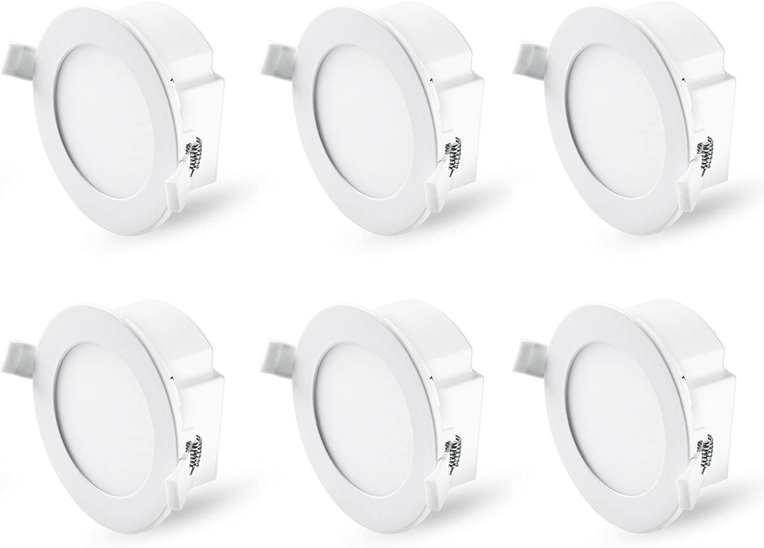 Hyperikon 4 Inch Recessed LED Downlight with Junction Box, Dimmable, 8.5W (60W Equiv), Retrofit Recessed Lighting, 5000K, Energy Star, UL, 6 Pack