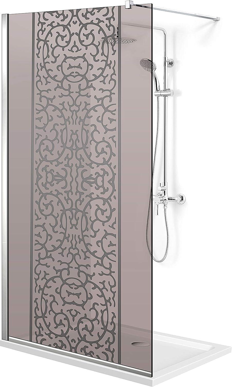 Modern Glass Art Leroy Timeless - Mampara de ducha (8 mm, cristal templado de seguridad, nano, acero inoxidable SS304), transparente: Amazon.es: Bricolaje y herramientas