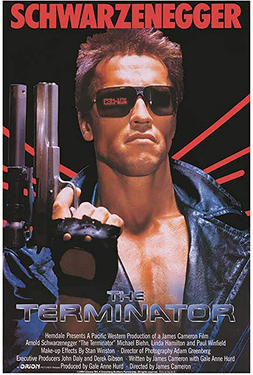 The Terminator Classic Movie Large Poster Art Print Black /& White Canvas or Card