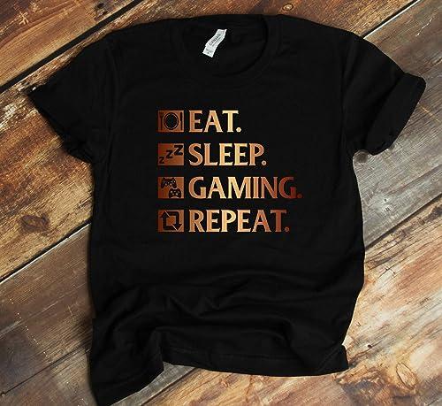 Eat Sleep Game HOODIE hoody birthday video games gamer geek nerd funny gift