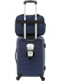 e6e8c672fe30 Wrangler 2 Piece Smart Spinner Carry-On Luggage Set