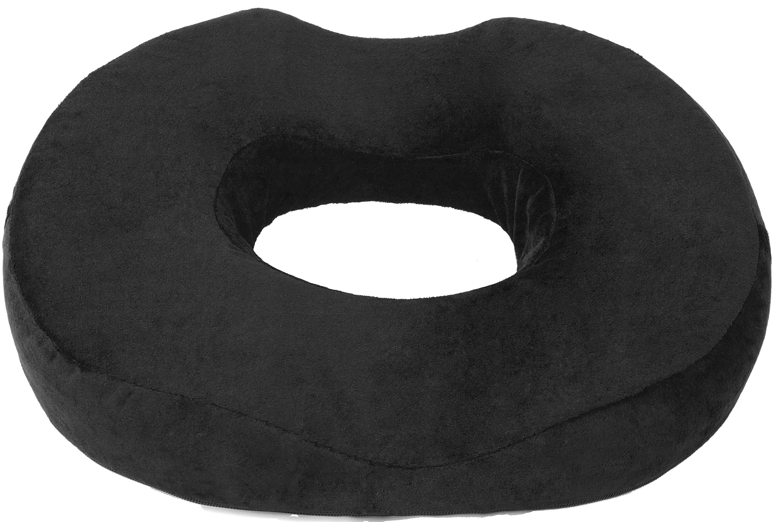Donut Pillow Seat Cushion Orthopedic Design| Tailbone & Coccyx Memory Foam Pillow | Pain Relief for Hemorrhoid, Pregnancy Post Natal, Surgery, Sciatica and Relieves Tailbone Pressure by Pillow Palace  by Lexia Donut Pillow