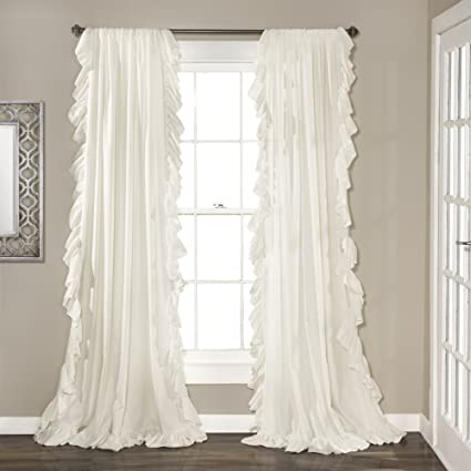 Amazoncom Lush Decor Reyna Window Curtains Panel Set For Living