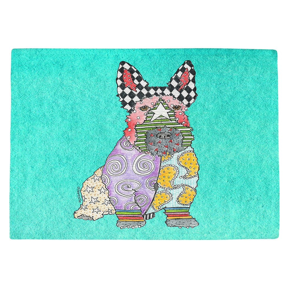 DIANOCHEキッチンPlaceマットby Artist Marley Ungaro – Scottish Terrierターコイズ Set of 4 Placemats PM-MarleyUngaroScottishTerrTurquoise2 Set of 4 Placemats  B01MTKJ1I4