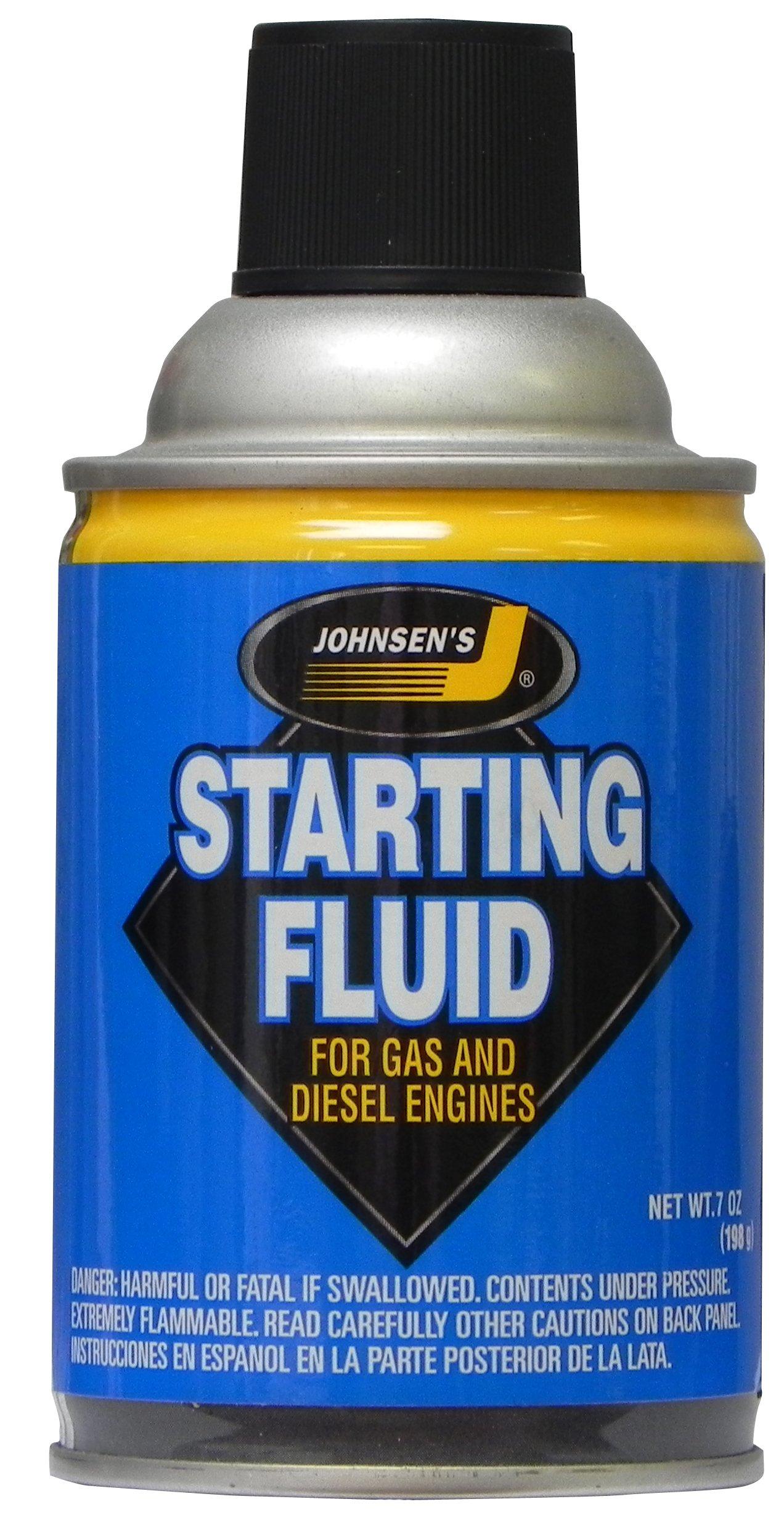Johnsen's 6733-12PK Starting Fluid - 7 oz., (Pack of 12) by Johnsen's