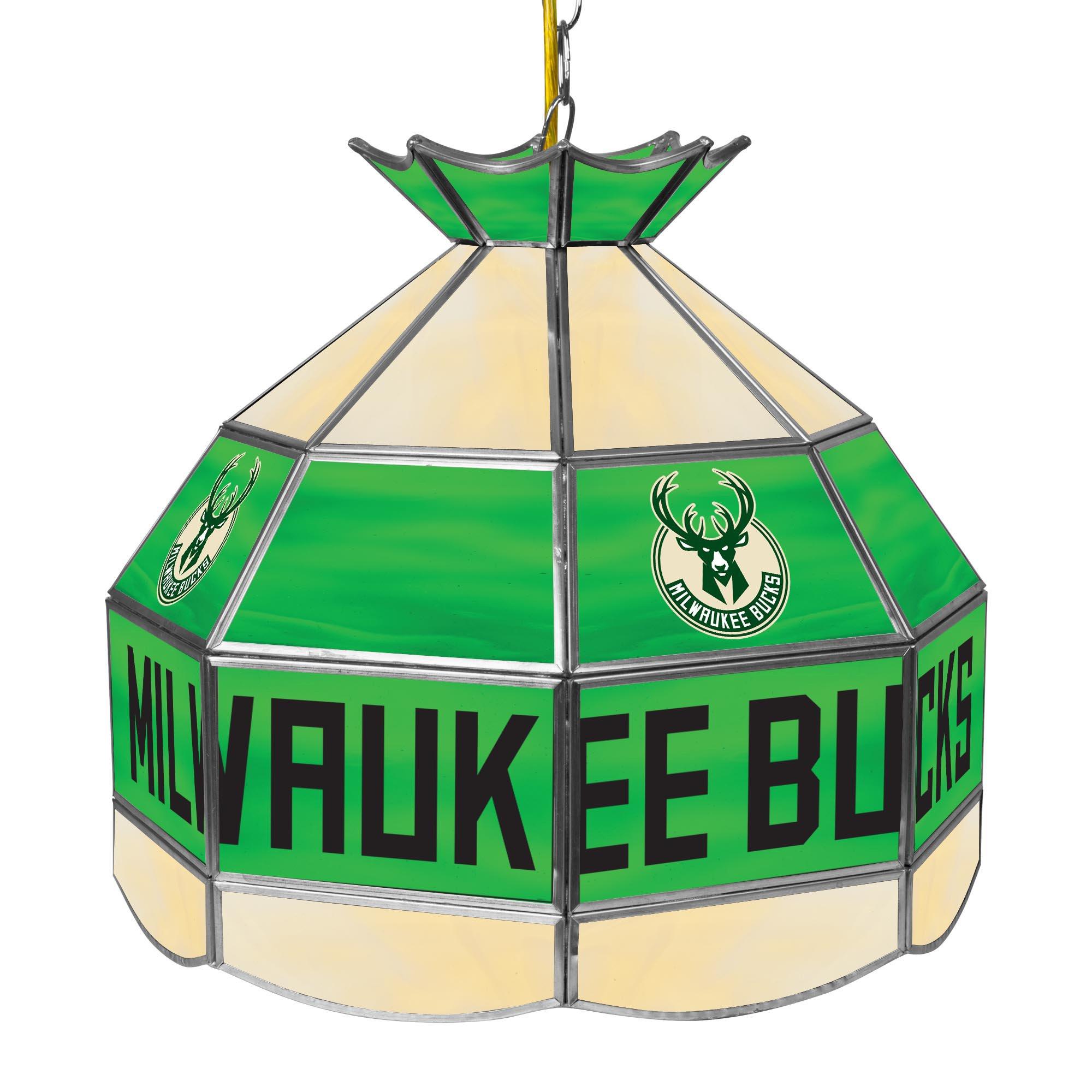 NBA Milwaukee Bucks Tiffany Gameroom Lamp, 16''